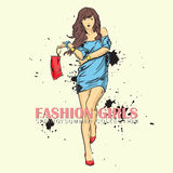 Prety fashion girl. Royalty Free Stock Images
