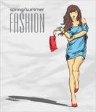 Prety fashion girl. Stock Image