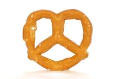 pretzel λευκό Στοκ Φωτογραφίες