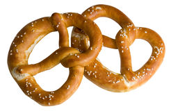 Pretzel. Two bavarian pretzel from the Oktoberfest in Munich Royalty Free Stock Images