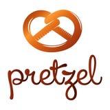pretzel ilustração stock