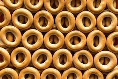 Pretzel or bagels for background Stock Photos
