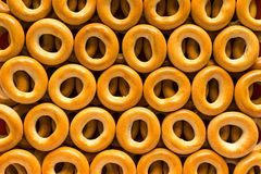 Pretzel or bagels for background Stock Images