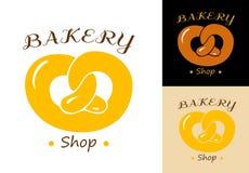 Pretzel bakery emblem Royalty Free Stock Image