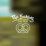 Pretzel of bakery food design Royalty Free Stock Photos