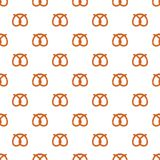 Pretzel bakery pattern seamless vector. Repeat for any web design royalty free illustration