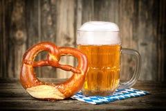 Pretzel and beer Stock Photo