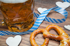 Pretzel and beer Royalty Free Stock Image