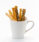 Pretzel bread sticks isolated  Stock Images