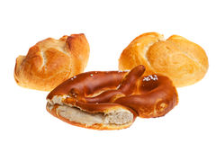 Pretzel and bun Stock Image