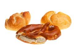 Pretzel and bun Stock Image