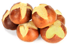 Pretzel Buns on Pile. Royalty Free Stock Photography