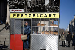 Pretzel Cart in NYC stock photo