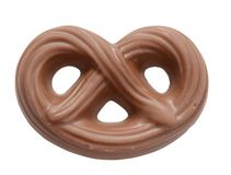 Pretzel chocolate Royalty Free Stock Images