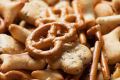 Pretzel and cracker salty snack Royalty Free Stock Image