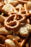 Pretzel and cracker salty snack Stock Images