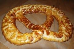 Pretzel del Año Nuevo, pretzel de la levadura en 2019 Fotografía de archivo libre de regalías