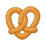 Pretzel do amor coração do petisco Sinal do amante do alimento Alemão tradicional m ilustração royalty free