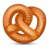 Pretzel. Fresh tasty Pretzel for Oktoberfest. Vector illustration Stock Photo