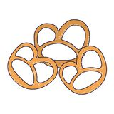Pretzel germany snacks. Isolated vector illustration graphic design vector illustration