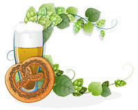 Pretzel and a glass of beer Royalty Free Stock Images