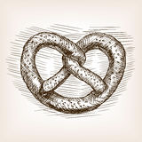 Pretzel hand drawn sketch style vector Royalty Free Stock Photography
