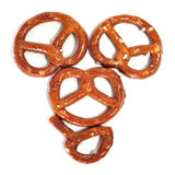 Pretzel heart. Some pretzels forming a heart on a white background Stock Images