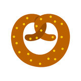 Pretzel icon in flat style Stock Photography
