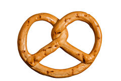 Pretzel isolated on white background. clipping path Stock Image