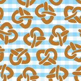 Pretzel naadloos patroon voor Oktoberfest vector illustratie