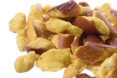 Pretzel Pieces Isolated Stock Photo