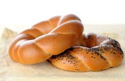 Pretzel ring style bread Royalty Free Stock Image