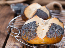 Pretzel Roll with Poppyseed Royalty Free Stock Photography