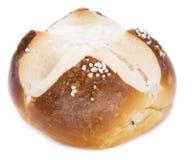 Pretzel Roll with Salt (over white) Stock Image