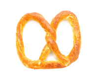 Pretzel with salt isolated on white background. German Pretzels on a white background royalty free stock images