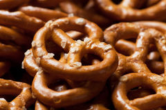 Pretzel salty snack. Selective focus close-up image Royalty Free Stock Photography