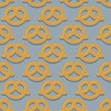 Pretzel seamless pattern. Beer snack  background. Ornament Royalty Free Stock Photography