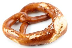 Pretzel shaped bread with salt Royalty Free Stock Image