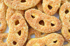 Pretzel shaped sugar cookies Royalty Free Stock Images