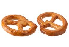 Pretzel snack on white Royalty Free Stock Photos