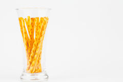 Pretzel snacks in glass Stock Photography