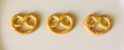 Pretzel. Some little pretzels on a plate Royalty Free Stock Image