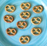 Pretzel. Some little pretzels on a plate Stock Image