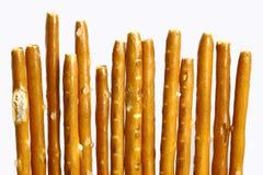 Pretzel sticks. German pretzel sticks isolated on the white background Stock Images