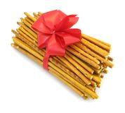 Pretzel sticks tied in a bow Stock Photography