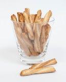 Pretzel Twists. In a martini glass Stock Photos