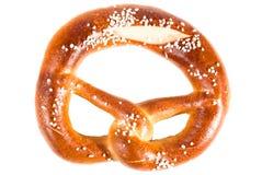 Pretzel V1. Bavarian pretzel isolated on white Royalty Free Stock Images