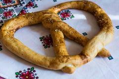 Pretzel van huis de smakelijke gebakjes Stock Fotografie