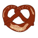Pretzel vector illustration Stock Images