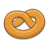 Pretzel vector illustration Royalty Free Stock Photo